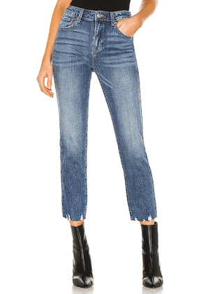 PISTOLA Monroe Mid Rise Cropped Cigarette in Blue. Size 26, 27, 29, 30.