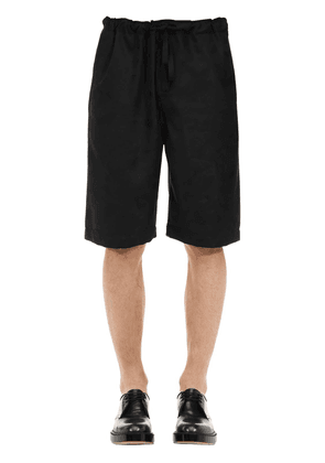 Camo Wool Jacquard Shorts