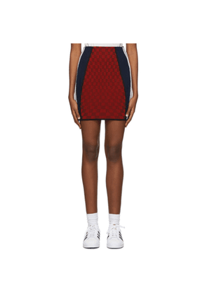 adidas Originals Red Paolina Russo Edition Ribbed Mini Skirt