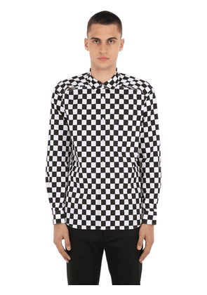 Checkered Open Back Poplin Shirt