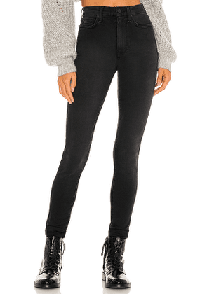 7 For All Mankind The High Waist Skinny in Black. Size 25, 26, 27, 28, 29, 30.