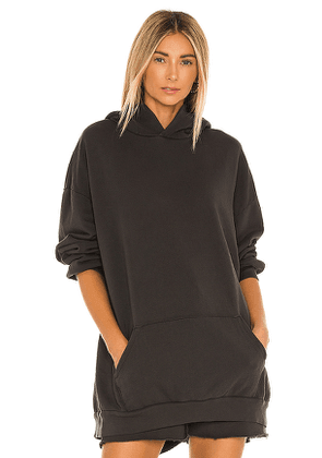 LNA Oversized Hoodie in Charcoal. Size S, XS.