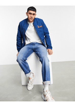ASOS Actual bomber jacket in blue