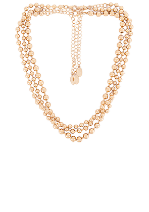 8 Other Reasons 102 Chain Pack Necklace in Metallic Gold.