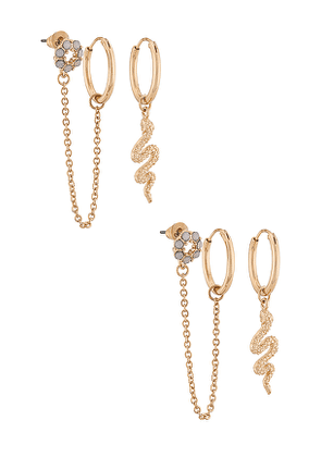8 Other Reasons 115 Earring Pack in Metallic Gold.
