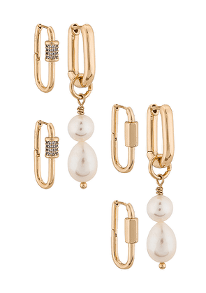 8 Other Reasons 125 Earring Pack in Metallic Gold.
