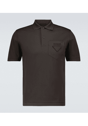 Cotton polo shirt with tonal logo