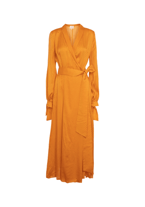 Cabana silk jacquard maxi dress