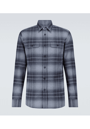 Checked cotton flannel shirt