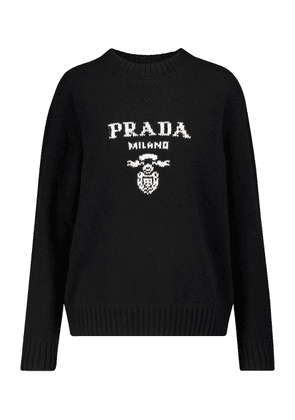 Logo wool and cashmere sweater