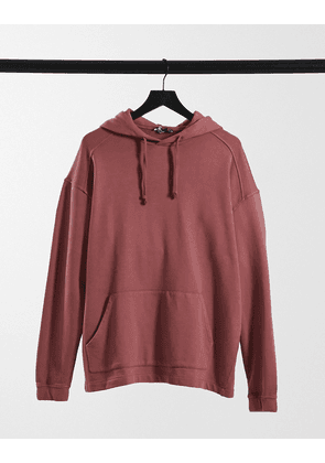 ASOS DESIGN co-ord oversized hoodie in washed berry-Purple