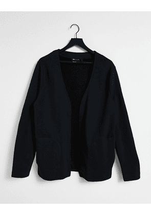 ASOS DESIGN boxy relaxed jersey cardigan in black