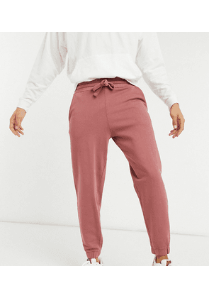 ASOS DESIGN Tall co-ord oversized joggers in washed berry-Purple
