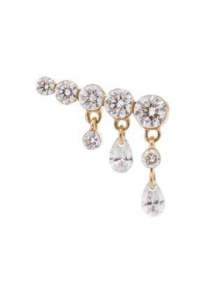 Invisible Crescendo Bar 18kt gold single earring with diamonds