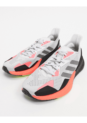 adidas Running X9000L3 trainers in grey and orange-Green