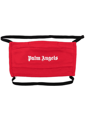 Palm Angels logo-print face mask - Red