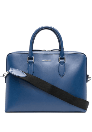 Burberry lettering logo briefcase - Blue