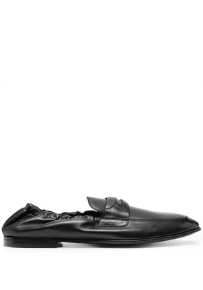Dolce & Gabbana logo plaque leather loafers - Black