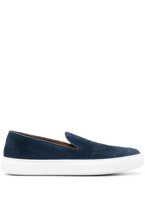 Fratelli Rossetti textured suede slip-on sneakers - Blue