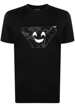 Emporio Armani graphic-print cotton T-shirt - Black