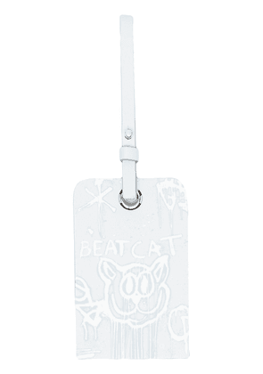 Acne Studios Beat Cat luggage tag - Blue