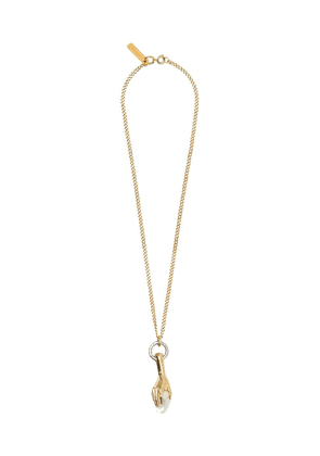 Burberry hand clutching faux-pearl necklace - Gold