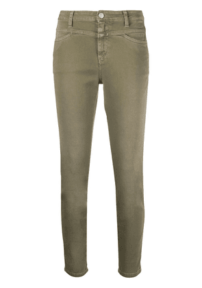 Closed cropped leg jeans - Green