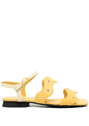 Camper eyelet straps sandals - Yellow