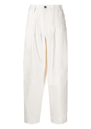 Closed Bella pleated twill trousers - Neutrals