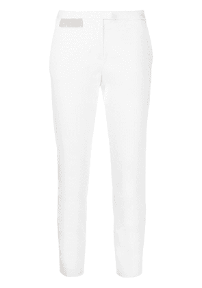 Fabiana Filippi cropped slim-fit trousers - White