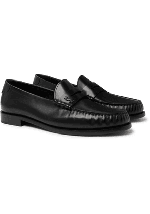 SAINT LAURENT - Leather Loafers - Men - Black