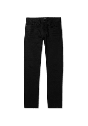 TOM FORD - Slim-Fit Selvedge Stretch-Denim Jeans - Men - Black