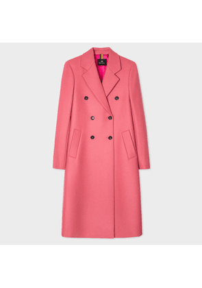 Women's Pink Wool-Cashmere Double-Breasted Coat