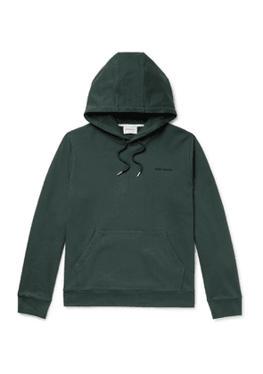 Norse Projects - Vagn Logo-Embroidered Loopback Cotton-Jersey Hoodie - Men - Green