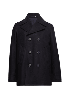 PRIVATE WHITE V.C. - Double-Breasted Melton Wool Peacoat - Men - Blue