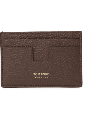 TOM FORD - Full-Grain Leather Cardholder - Men - Brown