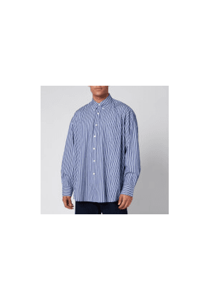 Our Legacy Men's Borrowed Bd Multiple Stripe Shirt - Blue - 48/M