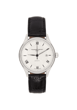Frederique Constant Silver and Navy Classics Index Automatic Watch