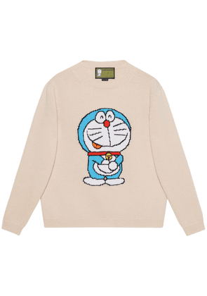 Doraemon Intarsia Wool Knit Sweater