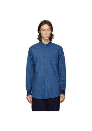 Blue Blue Japan Blue Flannel Check Hand-Dyed Shirt