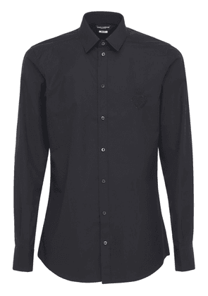 Logo Embroidery Cotton Poplin Shirt