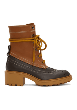 Chloe Brown Leather Franne Boots