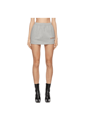 VETEMENTS Grey Haute Couture Logo Miniskirt