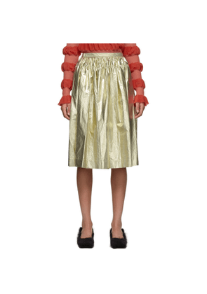 Molly Goddard Gold Midas Skirt