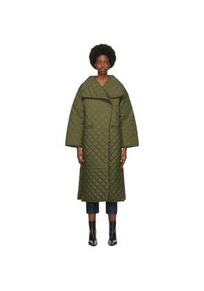 Toteme Green Quilted Annecy Coat