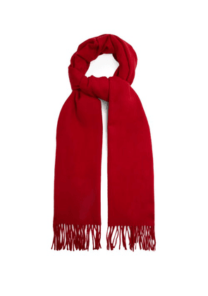 Raey - Fringed Wool-blend Scarf - Womens - Red