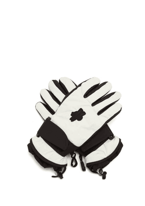 3 Moncler Grenoble - Logo-patch Shell And Leather Gloves - Womens - White