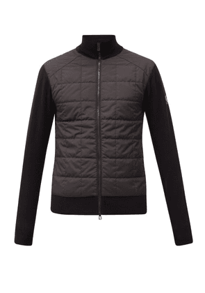 Belstaff - Kelby Quilted-shell And Wool Zipped Cardigan - Mens - Black