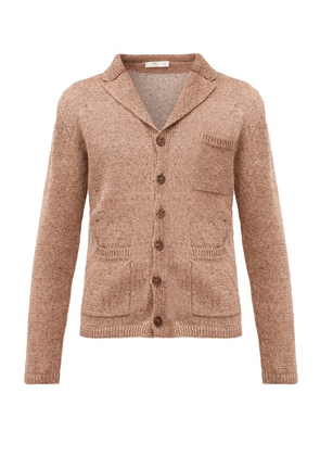 Inis Meáin - V-neck Linen Cardigan - Mens - Brown