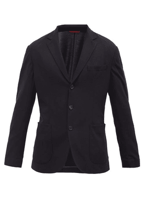 Brunello Cucinelli - Single-breasted Wool-piqué Blazer - Mens - Navy